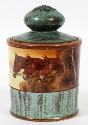 Nippon Porcelain Scenic Humidor C. 1910-20