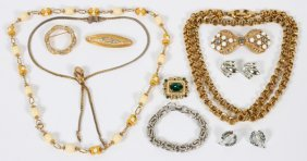 Costume Jewelry Collection Eleven Pieces