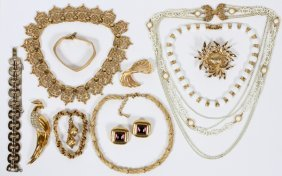 Monet Costume Jewelry Collection Eleven Pieces
