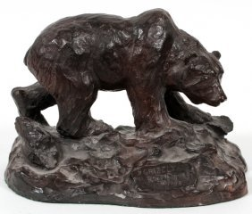 R Scott American Bronze Grizzly Bear 1988