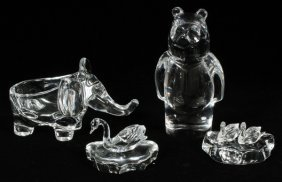 Orrefors Art Vannes & Lenox Crystal & Glass Figures