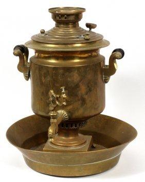 Russian Brass Samovar & Basin 19th.c.