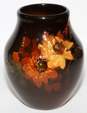 Owens 'lotus' Pottery Vase Early 20th C.