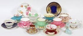 Herend & English Porcelain Teacups & Saucers