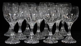 Baccarat 'massena' Crystal Water Goblets, Eleven