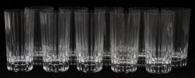 Baccarat 'harmonie' Crystal Highball Glasses Ten