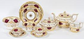 English Porcelain Tea Service C.1840s 51 Pieces