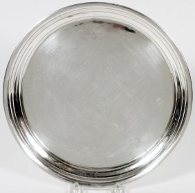 Edward H. Breese Sterling Tray Early 20th C.