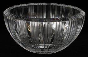 Tiffany & Co. 'atlas' Crystal Bowl