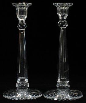 Libbey Crystal Single-light Candlestick Holders