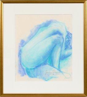 James Davis Blue Pastel 1976