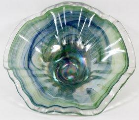Murano Hand Blown Glass Centerpiece Bowl