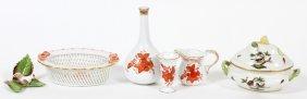 Herend Porcelain Miniatures Five Pieces