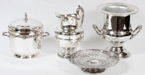 Silverplate Bar Accessories Four Pieces