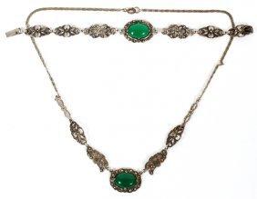 Sterling & Marcasite Bracelet & Necklace
