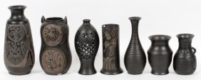 Chinese Black Pottery Vessels Seven