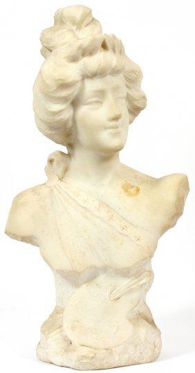 B. Pierotti Italian Carved Marble Bust