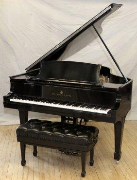 Steinway Ebonized Wood Grand Piano W/ Bench