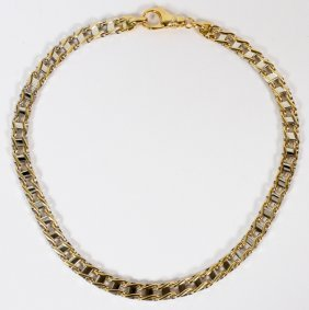 14kt Yellow And White Gold Link Necklace