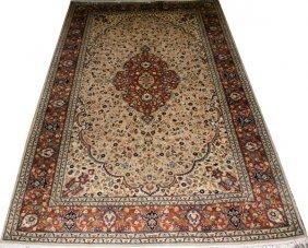 Keshan Design Oriental Wool Rug C. Later 20th C.