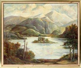 Paul Evans Oil On Canvas