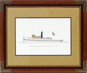 Frank R. Crevier Ink & Watercolor On Board C. 1969