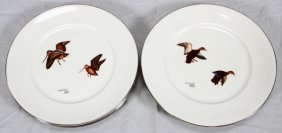 Lynn Bogue Hunt Wild Fowl Dinner Plates 6 Pcs.