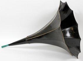 Metal Phonograph Horn C1900 11 Panel