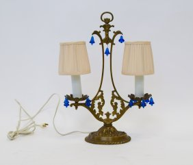 Dual-light Brass Lamp