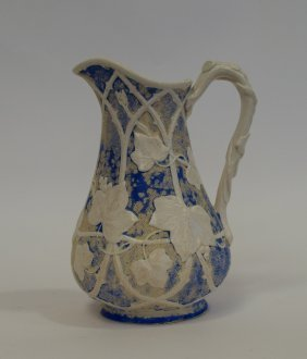 Blue & White Porcelain Pitcher