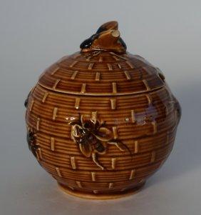 Vintage Porcelain Bee Hive Honey Pot