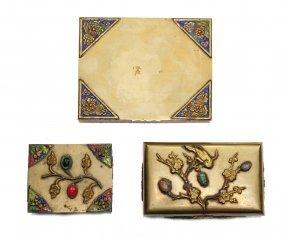 Three Decorative Brass Boxes