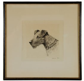 Wire Fox Terrier Etching By David Gee