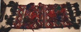 "Persian Wool Blue & Red Saddle Bag 30"" X 60"""