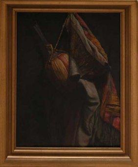 English School, Oil On Canvas, Still Life Coats O