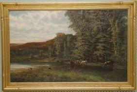 Alexander Ferdinand Wust (AMERICAN, 1837-1876) Oil