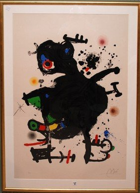 Joan Miro  (Spanish 1893 - 1983) Original Color Li