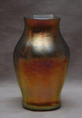 """L.C.T. Favrille Vase, 4 1/2""""h X 2 5/8""""L"""