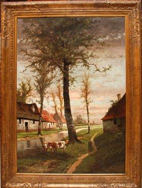 Henri Joseph Pieron (BELGIAN, 1856-1912) Oil On Ca
