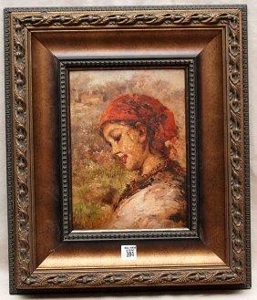 Vincenzo Irolli (ITALIAN, 1860-1945) Oil On Board,