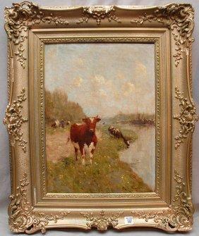 Ren� De Baugnies (BELGIAN, 1869-1962) Oil On Canva