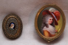 2 Miniature Boxes, Incl; One Brass Etruscan Ware O
