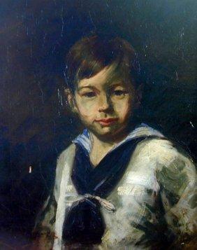 LOUIS BETTS (AMER. 1873-1961) OIL  A Charming Oil O