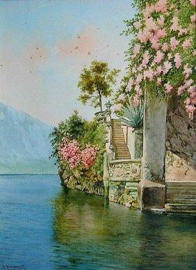 ALBERTO PROSDOCIMI (ITAL.1825-1925) W/C A Fine 19th