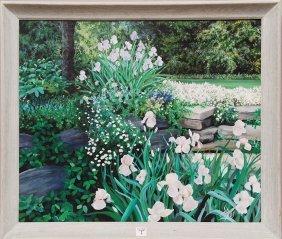 Susan Rios (AMERICAN, 1950) Oil On Canvas, Outdoor G