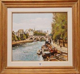 G�rard Passet (FRENCH, 1936) Oil On Canvas, Paris