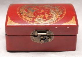 "Chinese Hinged Box With Calligraphy Inside, ""story"