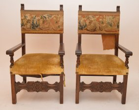 Pair Spanish Colonial Chairs