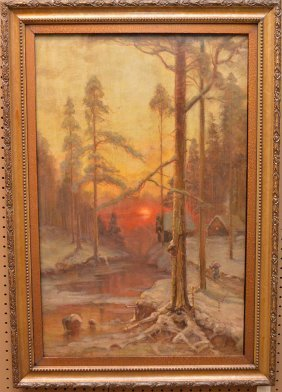 Russian Oil On Canvas, Klever And Studio, Winter Summer
