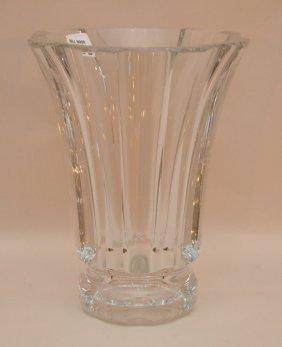 "Saint Louis Crystal Vase, 10""h"
